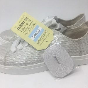 TOMS Glitter Lenox Sneakers 12 NWT